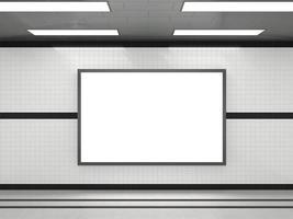 Horizontal framed blank poster