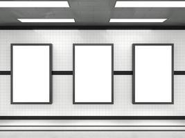 maquettes d'affiche de métro