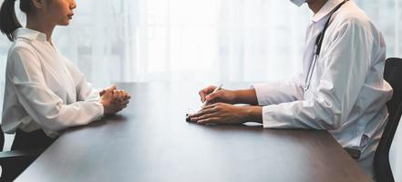 A healthcare professional conducting interview