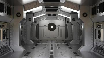 3D rendering of a spaceship tunnel
