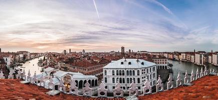 vista panorámica de la ciudad de venecia foto