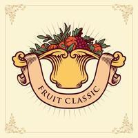 insignia clásica de frutas