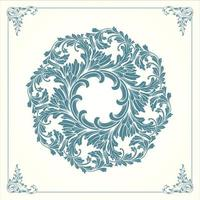 Vintage Mandala with floral ornament vector