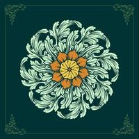 ornamentos de mandala floral vetor