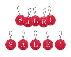 3D red paper price tags sale