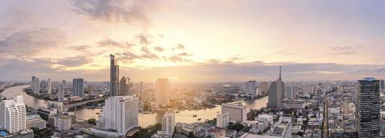 Bangkok skyline panorama photo