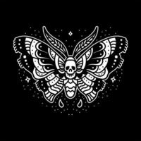 Dark butterfly tattoo design vector