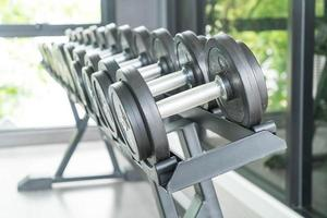 View of dumbbell rows