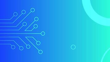 Fondo de tecnología moderna azul moderno