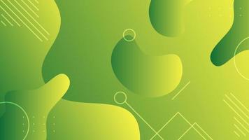 Green abstract liquid background vector