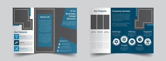 Blue Corporate Trifold Brochure Design Template