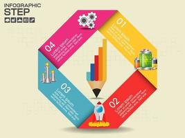 Colorful folded infographic with icons
