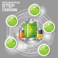 infografía de batería circular vector