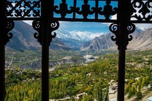 Nature landscape view of Hunza Nagar valley, Pakistan photo