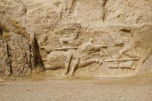 Sassanid rock relief in Naqsh-e Rostam, Iran