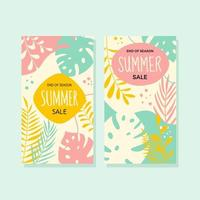 End of Season Summer Sale Social Media Template vector
