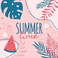 diseño de carteles de horario de verano vector