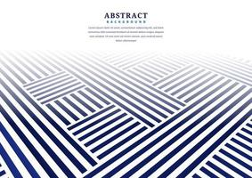 Abstract blue perspective line pattern on white vector