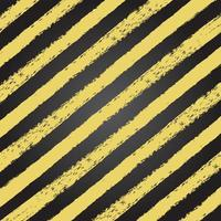 Grunge yellow and black stripe texture vector