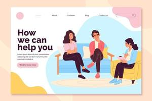 How we can help you counseling landing page vector