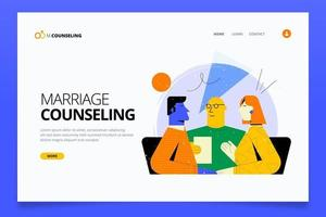 Colorful flat geometric style marriage counseling landing page