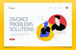 página de inicio del concepto de divorcio vector