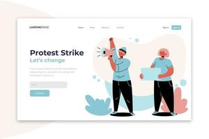 Protect yourself and protest safely landing page vector