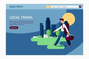 Local travel concept for landing page