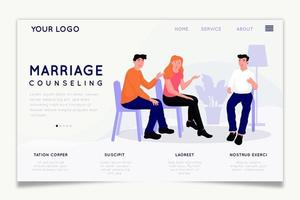 Couple talking marriage counseling homepage design
