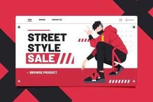 Super street style sale landing page. vector