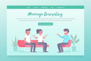 Marriage counseling appointment landing page