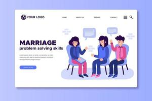 Marriage problem solving skills landing page vector