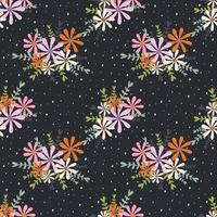 Colorful flower bouquet seamless pattern vector