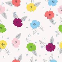 motif floral dessiné à la main coloré