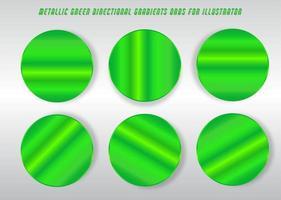 círculos brillantes, degradados de color verde lima vector