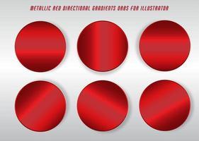 círculos gradientes vermelhos brilhantes vetor
