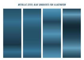gradientes azul acero brillante vector