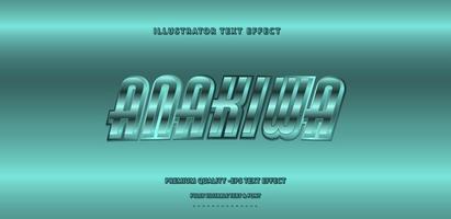 style de texte rétro anakiwa turquoise brillant