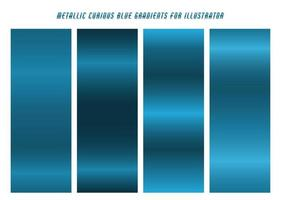 Shiny, Cerulean Blue Curious Gradients vector