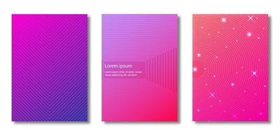 conjunto de capas com padrões de linhas e estrelas