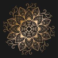 mandala floral de filigrana dourada
