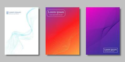 Flowing gradient cover set vector