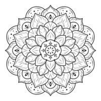 Layered blossom floral mandala vector