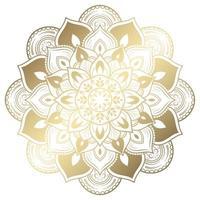 Vintage golden gradient floral mandala vector