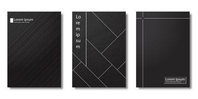 conjunto mínimo de capa em preto e branco