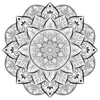 Ornament rounded flower mandala