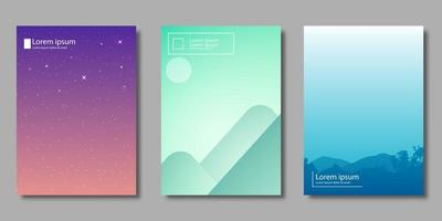 Gradient landscape and starry night covers