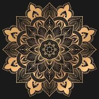 elegante diseño de mandala en color dorado