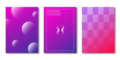 Gradient rectangle and circle cover set vector