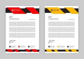 Dynamic Swirl Header Letterhead Design vector
